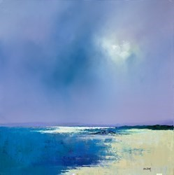 Summer Beach by Barry Hilton -  sized 20x20 inches. Available from Whitewall Galleries